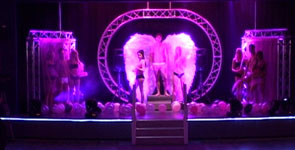 Pink Breast Cancer Charity Fashion show being filmed by Media Inventions for a fundraising DVD production