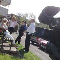 Media Inventions shooting a community involvement video production for Merlin Housing at Knowle in Bristol