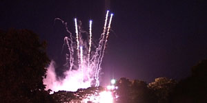 Fireworks at the West Wiltshire Show from a DVD production of the show produced by Media Inventions