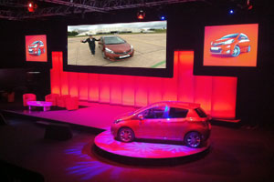 Still from a web video productionby Media Inventions showing highlights of the Toyota Yaris launch